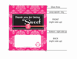 Candy Bar Template Word Unique Baby Shower Chocolate Wrappers