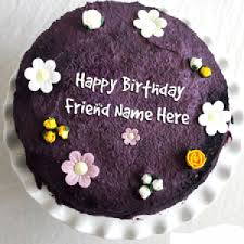 Write name on Cute Chocolate Birthday Cake
