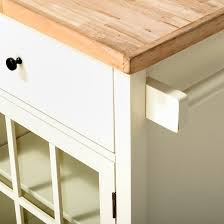 windham wood top kitchen island off white threshold target