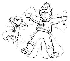 Winter Coloring Sheets With Pages For Preschool Clothes