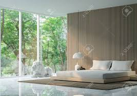 moderne ruhige schlafzimmer im wald modern ruhigen schlafzimmer minimalistischen stil marmor weiß boden schmücken wand mit holzgitter basic
