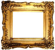 Vintage Gold Frame Transparent PNG