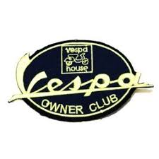 Get Quotations Vintage Vespa Owner Club Logo Symbol Sign Embroidery Embroidered Iron On Patch
