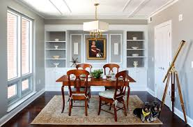 Beautiful Dining Room Built Ins Traditional With Wood Flooring Casual Side Chairs
