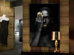 details zu wandbild glas dekoration schwarz gold abstrakt wohnzimmer oronegro