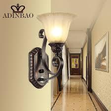 rustic iron wall sconce corridor led wall light outdoor indoor