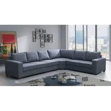 canapé grand angle grand canapé d angle 6 places lili gris pas cher et tendance