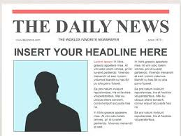 New Article Template Inside Blank Newspaper Word Format Co