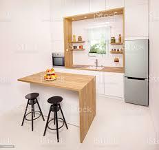 küche mit fenster inselund barhockern stockfoto und mehr bilder arbeitsplatte
