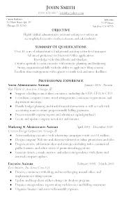 Example Resume For Administrative Position Assistant