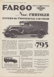 Chrysler Enters The Commercal Car Field - Fargo Packet Panel Truck ...