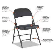 Steel Folding Chair With Two-Brace Support By Alera® ALEFC97B ... Black Plastic Folding Chair Box Of 10 Chairs Sf2250ebk Https Extra Wide Alinum Lawn White Resin 131001 Foldingchairs4lesscom 5 Top Heavy Duty My Junior All Star Chairsplastic Tables Cosco 48 In Brown Banquet And Set Kestell Fniture Oak Wood Padded Reviews Wayfair Best Made Company Mallmanns Caravan Steel Blind Rivets For Buy Beach Gear Pinterest Chairs Wooden Makeover A Gathering Place Au Portable Stool Seat Outdoor Fishing