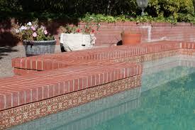 samara terra cotta pool waterline accents