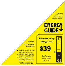 New Energy Guide Label For TV