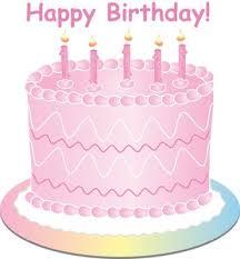 Free Birthday Cake Clip Art Image Girls Pink Birthday Cake