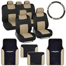 Jeep Commander Floor Mats Canada by 14pc Car Seat Covers Set Full Bench Black U0026 Beige W Pu Leather