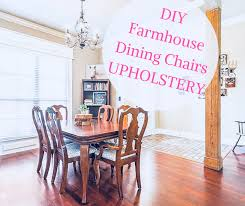 Farmhouse Style | How To Recover Dining Room Chairs | DIY ... Delightful Reupholster Ding Chair Seat And Back Of 6 Ding Table Chairs How To A With Pictures Wikihow Six Art Deco Chairs French Moustache Use Recover Image Of Casual Reupholstering Room Fabric Pazzodalcarlocom Room 4 Steps We Recover Fully Upholstered In New Fabric Faux Leather The 100 Images How American Midcentury Designed By John Keal Fascating Much To Sofa Do It Yourself