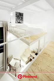 modernes schlafzimmer hochbett mit treppe interior design