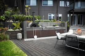 Small Modern Outdoor Kitchen