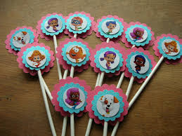 Bubble Guppies Bathroom Decor by Bubble Guppy Cupcake Toppers