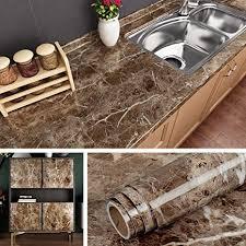 livelynine 40cmx10m marmor klebefolie selbstklebende folie für arbeitsplatte küche tisch möbel küchenarbeitsplatte fensterbank schminktisch deko