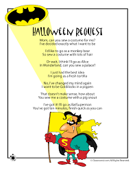 Halloween Mad Libs For 3rd Grade by Halloween Poems For Kids Woo Jr Kids Activities
