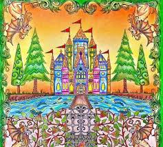 Castle Gate Enchanted Forest Castelo Portao Floresta Encantada Johanna Basford Coloring BooksAdult