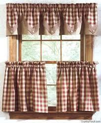 Rustic Country Curtains Impressive Ideas Kitchen Cozy Design Com Drapes