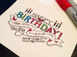happy birthday lettering Google Search