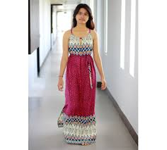 tribal magenta maxi dress ethnic print women dress maxi