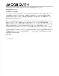 Free Cover Letter Examples For Customer Service Cover Letter