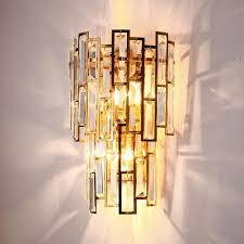 schlafzimmer nacht kristall licht wand gold für heim
