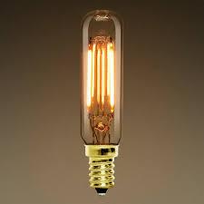 tubular bulb t6 led 2w dimmable vintage vertical filament