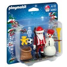 maison du pere noel playmobil playmobil 4890 duo père noël et bonhomme de neige playmobil