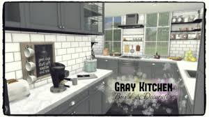 Gray Kitchen By Dinha Gamer For The Sims 4