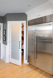 Frosted Glass Pantry Door Contemporary kitchen Benjamin
