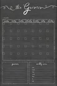 Custom Unframed 20 X 24 Chalkboard Calendar Chalk