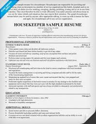 Confortable Entry Level Housekeeping Resume Sample For Rh Danaya Us Examples Samples Skills