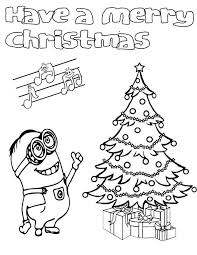 Minion Christmas Coloring Page