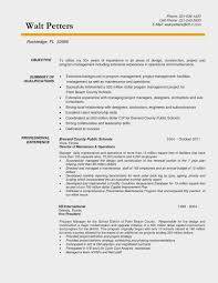 Construction Manager Resume Sample Fresh 14 Project