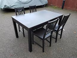 IKEA Lerhamn Black Table 118cm & 4 Stefan Black Chairs FREE DELIVERY 735 |  In Leicester, Leicestershire | Gumtree Alexia 5 Pcs Contemporary Set 4 Black Chairs And White Modern Table Inspire 5piece Greywhite Kids Table And Chair Set Garden Trading Rive Droite Bistro Chairs Shutter Blue Costway Piece Ding Wood Metal Kitchen Breakfast Fniture Black Rakutencom Black Table Chairs Dorel Living Devyn 3piece Faux Marble Pub Ikea In Camberwell Ldon Gumtree Brooklyn Oak Leather Bro103 Warmiehomy Glass 6 With 2375 Square Inoutdoor 2 Meco Sudden Comfort Deluxe Double Padded Back Card Courtyard Cosco Foldinhalf Folding