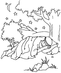 Jacob Dreaming Genesis 28 From Thru The Bible Coloring Pages For Ages