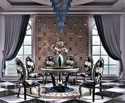 klassische designer möbel esszimmer garnitur rund tisch 6 lehn stühle sessel