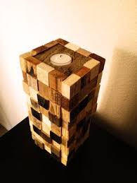 Large Candle Made From Scraps Of Pallet Wood