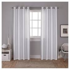 Gray Ruffle Blackout Curtains by White Ruffle Blackout Curtains Target