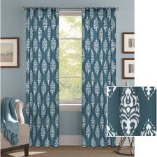 Car Window Curtains Walmart by Better Homes And Gardens Traditional Damask Curtain Panel
