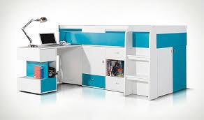lit enfant bureau lit enfant haut avec bureau coulissant et rangement pas cher