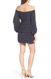 bardot polka dot off the shoulder dress nordstrom