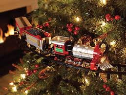 Lighted Sound Amp Animated Christmas Tree Train Set