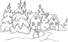 Winter And Christmas Coloring Pages